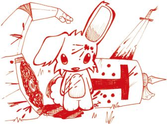 That cool killer rabbit by ninja-artist