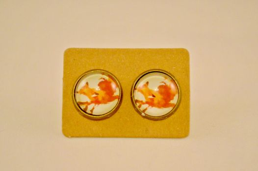 Adorable Fox Stud Earrings by AshsMysticEmporium