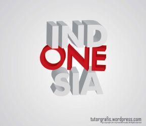 Indonesia 3d Teks Tutorgrafis.wordpress.com by hendradeviantart