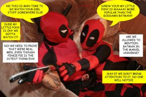 Deadpools watching TV part 2 by DuskImp87