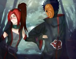 PC: Don't be stubborn - Tobi x Urufei by Hatake-Flor