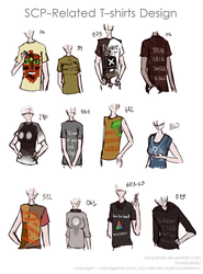 SCP-related T-shirts by ND-painter