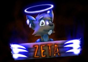 Anthrocon Badge 2014: DK OC Zeta by DanWithTheHat