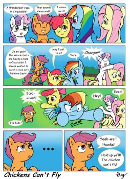 MLP:FIM - Chickens Can't Fly by MultiTAZker