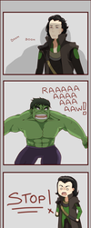 Loki vs Hulk SPOILER by ChocoHal