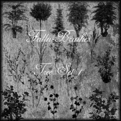 Trees and Bushes Brushes Set 1 by Falln-Stock