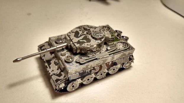 Tiger tank (metal earth kit) by Fluffysnowgryph