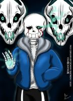 Sans You're Gonna Have a Bad Time by Morgane-Mangas