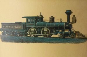 Frisco 4-4-0 Capt. C.W. Rogers by rlkitterman