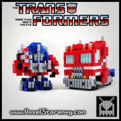 Optimus Prime Transform by VoxelPerlers