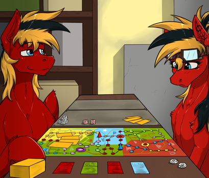 Playng games. by Twotail813
