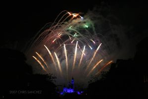 HK Disneyland Fireworks by keemps