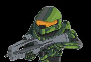 Master Chief by OllieLamontagne