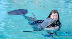 Dolphin and Girl by mnjul