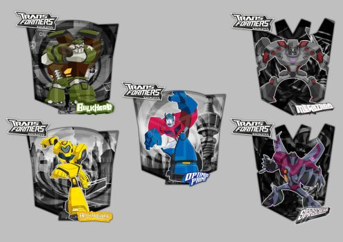 Transformers Animated Shields by zayler