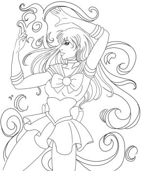 Sailor Mars Fire Ink by SChappell