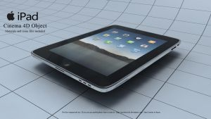 Apple iPad C4D Model by javedscircle