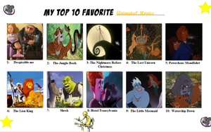 My Top Ten Favourite Animated Movies by Austria-Man