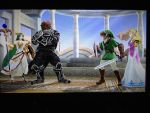 Zelda x Link and Ganondorf x Palutena by alienskiller1