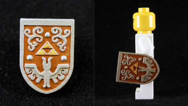 LEGO 3D Printed Painted Hero's Shield by mingles