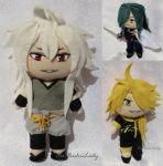 Tiny Flat Plushies: More Touken Ranbu by ThePlushieLady