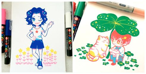 posca marker practice by Chancake