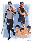 Raiden|Character sheet Commssion by Kumigumi