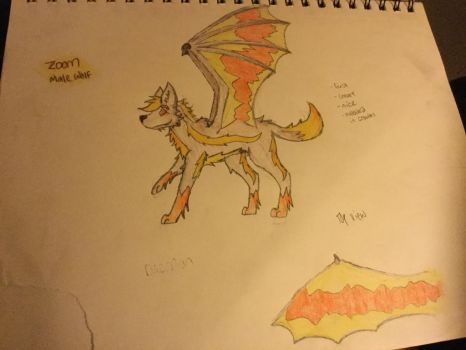 Winged wolves by Stormygirl0940