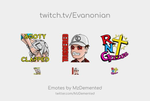 Twitch Emotes for Evanonian by MzDemented