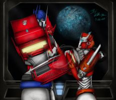 Optimus and Causeway - Cybertron Revived by Elita-One-Arts