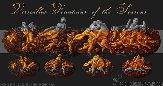 Versailles Fountains by Trishields