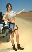Lara - Hitching 01 by LethalCandy