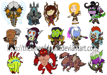 Blizzard Chibis by thelimeofdoom