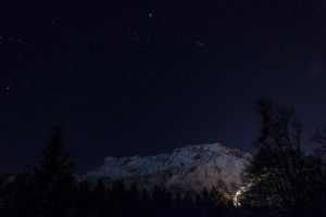 mountain with stars by alien8y