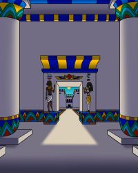 Egyptian Interior by TyrannoNinja
