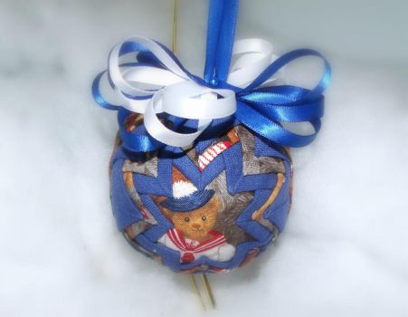 Precious Teddy Bear handmade quilted ornament by Chrissie1370