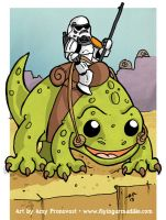 Dewback and Stormtrooper by artyewok