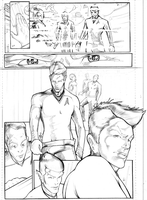 Star Trek Vs Star Wars Page 1 Pencils by CandyAppleFox