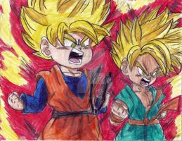 SS Goten and Trunks by ChibiNinjaKARA