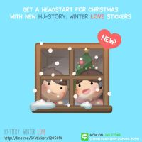 LINE Stickers : Winter Love by hjstory