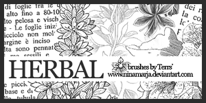 Herbal - brushes set 03 by FishboneArt