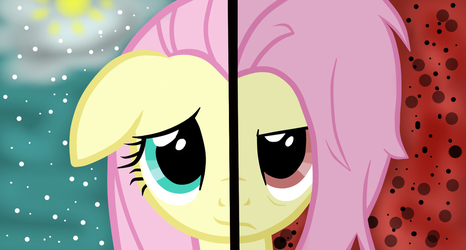 Fullershy and Flutterbat head by SkillfulArtistHUN