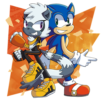 Tangle and Sonic! by BrenToDaBrens