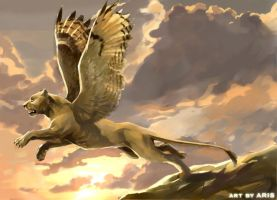 Gold griffin by ARISopon