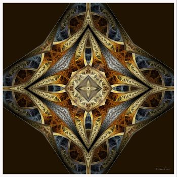 Rust And Gold Fractal by 12CArt