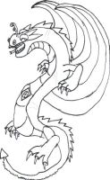 Green Dragon (Inked) for Ibui-Ampora by KagamineLink