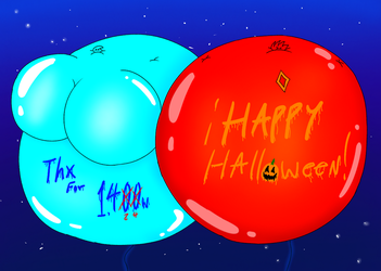 Lizz and Rick Helium Expansion (Happy Halloween) by LuckyEmerald269