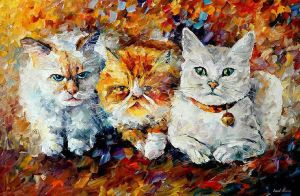 Kittens by Leonid Afremov by Leonidafremov