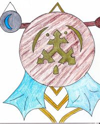 Spearhead of Canas banner /Blue Crescent Moon disc by Wraa