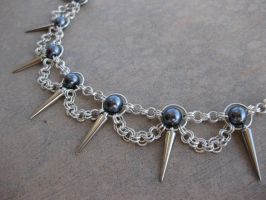 Visual Kei Chainmaille Necklace by DarkFireRaven